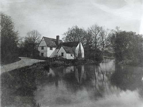 Wet Collodion Ambrotype print of Will Lott's Cottage Flatford Mill in Spring
