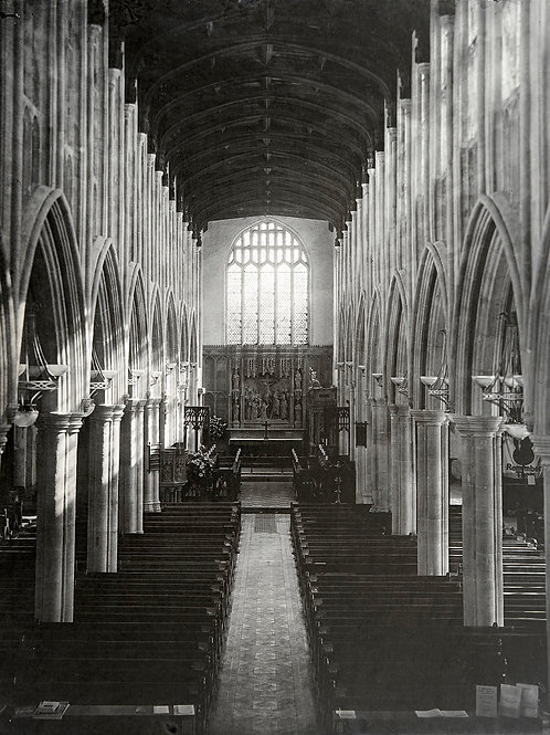 A Wet Collodion Ambrotype print of Holy Trinity, Long Melford