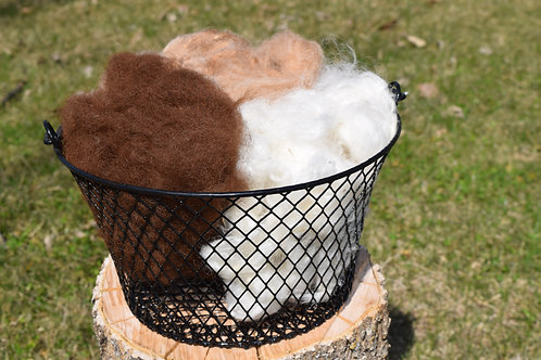 Washed Alpaca Fiber - Medium