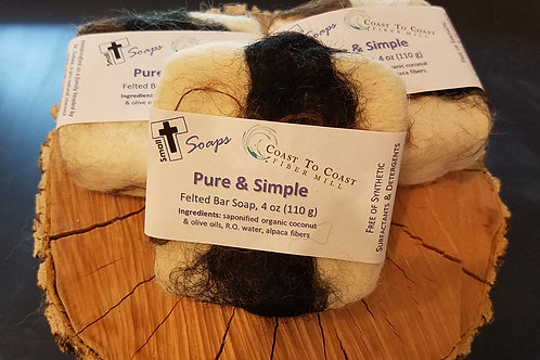 Felted Pure & Simple Soap