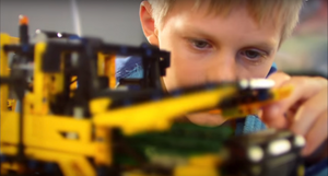 volvo lego kid play
