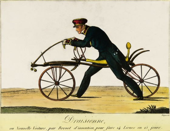 Karls Drais primeiro velocípede