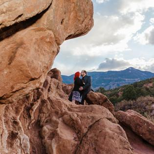 Engagement Photos at Garden of the Gods | Colorado Springs Engagement Photographer | Mary + Matt