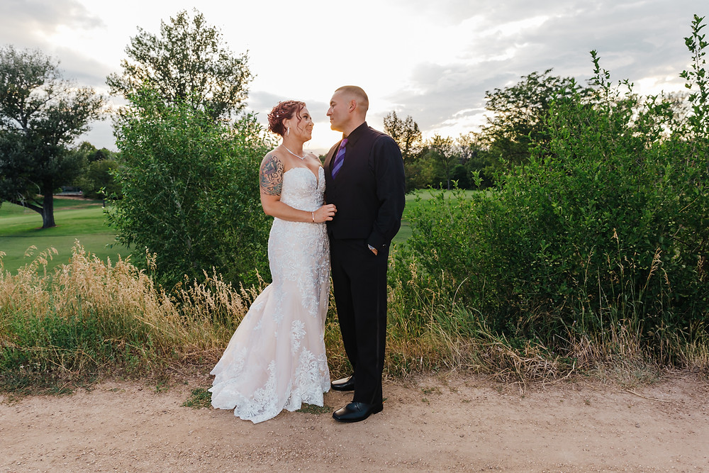 Sunset wedding photos at The Wellshire Inn