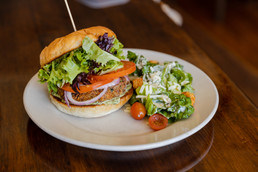 VEGAN FALAFEL BURGER - The Roost - Longm