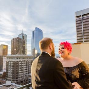 Downtown Denver COUPLES session at Magnolia Hotel | Colorado Engagement Photography | Katie + Corey