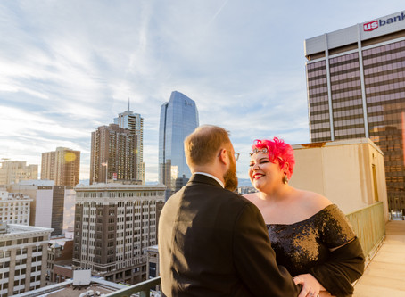 Downtown Denver COUPLES session at Magnolia Hotel | Colorado Engagement Photography | Katie + Corey