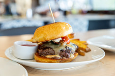 Eberts Terrace and Grill - Bison Burger-