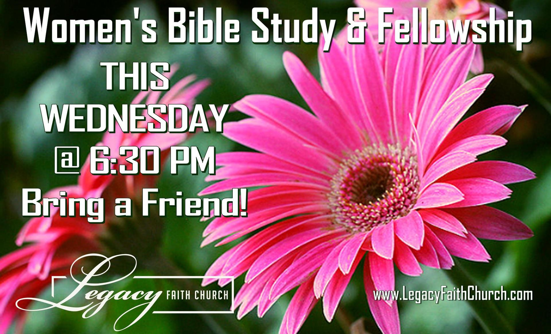 Womens Bible Study this week