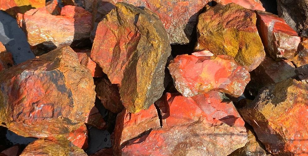 1kg Scottish RED CAMPSIE JASPER for Tumbling / Lapidary