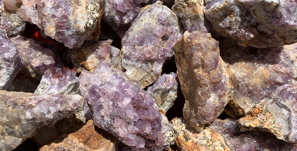 1kg Rough Amethyst Pieces from Scotland