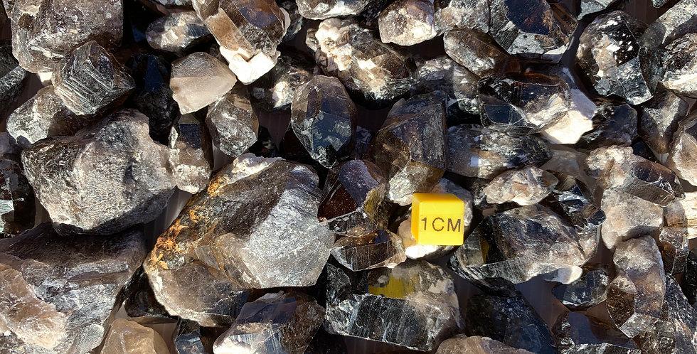 100g Scottish Arran SMOKY QUARTZ Crystals + Rough Pieces