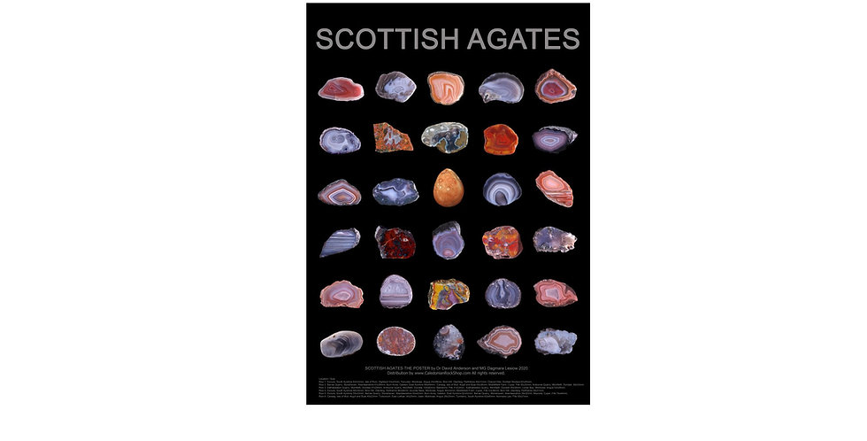 New! SCOTTISH AGATES A1 Poster