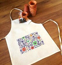 Kit d Plantio de sements com avental personalizado - Lembrancinha Ecológica