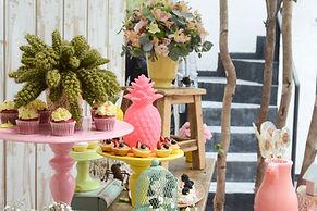 Arranjos Florais - Festa Infantil - Le Pin pop e Pink and Blue Brand