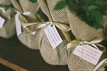 Lembrancinha Ecológica embalada com tecido
