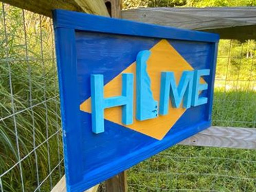 """Handmade Wooden Sign Reading""""Home"""""""