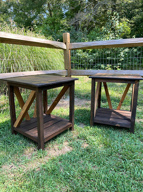 Handmade Farmhouse End Tables