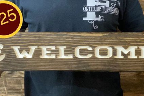Handmade Welcome Sign