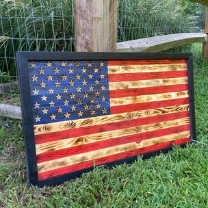 Medium American Flag w/ Black Frame