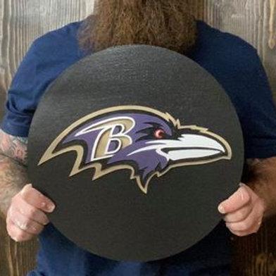 Handmade Baltimore Ravens Sign