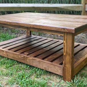 Early American Coffee Table w/ One Shelf