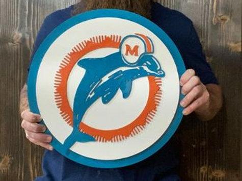 Handmade Miami Dolphins NFL Logo