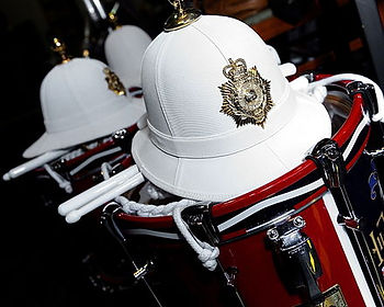 Royal_Marines_Band_Service_Helmets_and_D