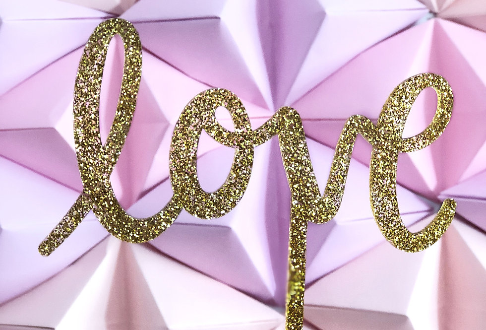 Cake Toppers Glitter