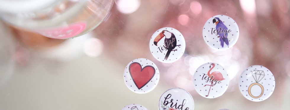 Mix Mini Pins Casamiento