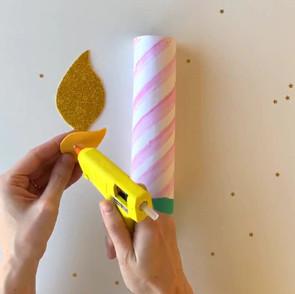 DIY candle confetti popper