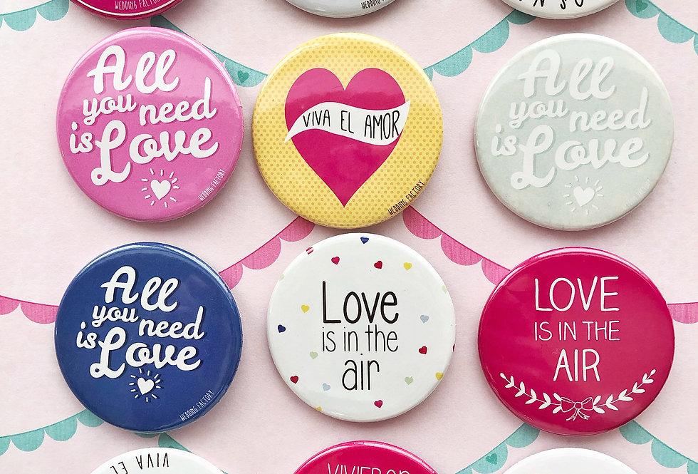 Mix Pins Casamiento - Pack de 10
