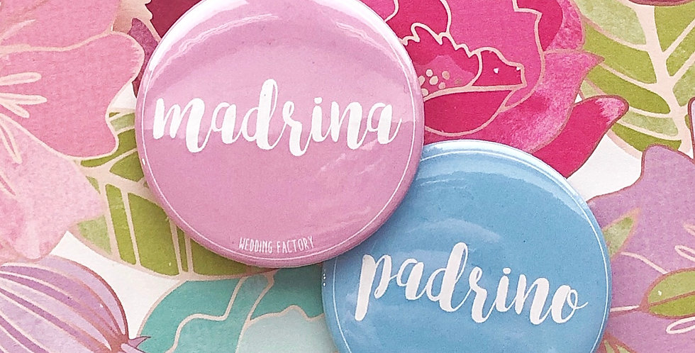 Pins PADRINO / MADRINA