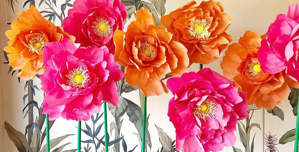 Flores De Papel con soporte (se paran solas!)