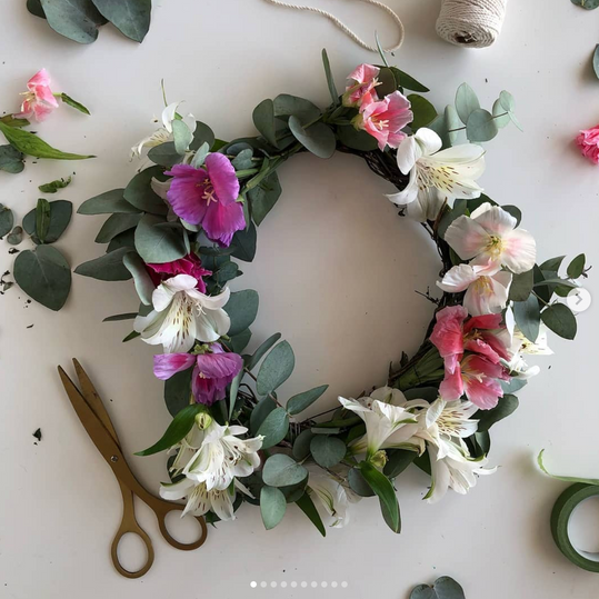 DIY corona flores