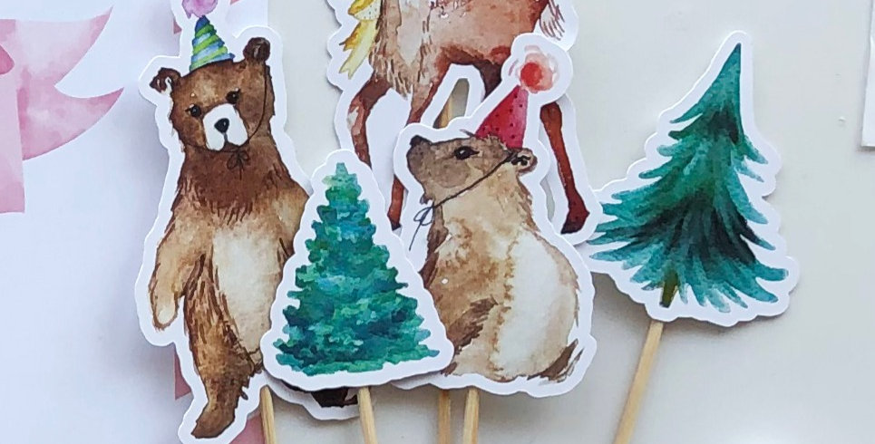 Cake Toppers - Pack de 5