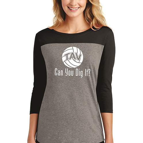 CAN YOU DIG IT - District ® Women's Rally 3/4-Sleeve Tee