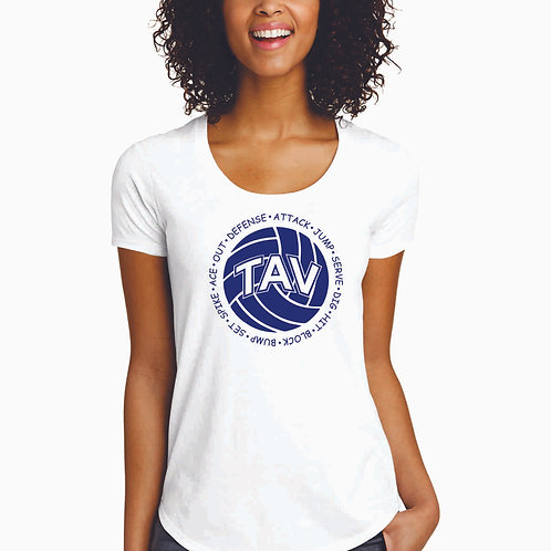 Volleyball Sayings - District ® Women's Fitted Very Important Tee ® Scoop