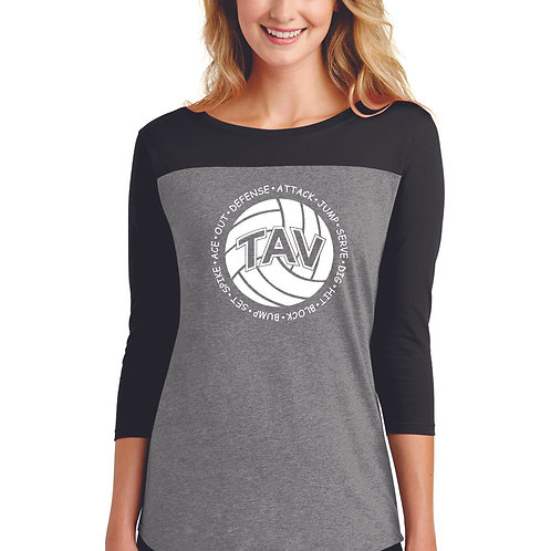 Volleyball Sayings - District ® Women's Rally 3/4-Sleeve Tee