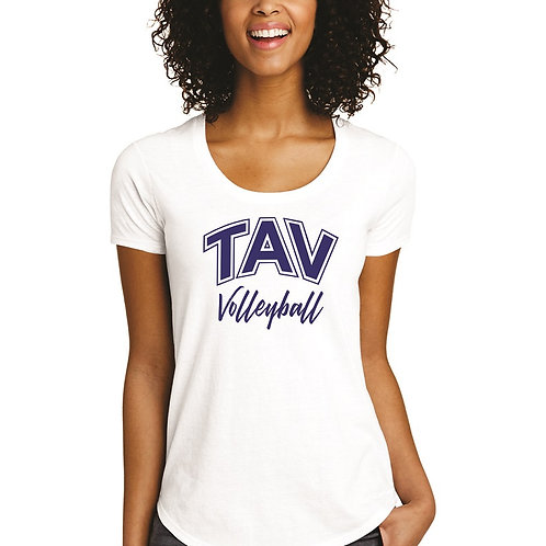 TAV VOLLEYBALL - District ® Women's Fitted Very Important Tee ® Scoop
