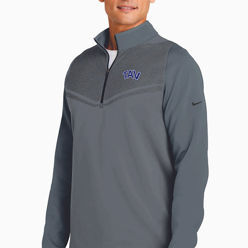 EMBROIDERED - Nike Therma-FIT Hypervis 1/2-Zip Cover-Up