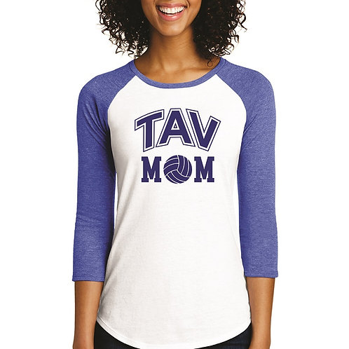 TAV MOM - District ® Women's Fitted 3/4-Sleeve Raglan