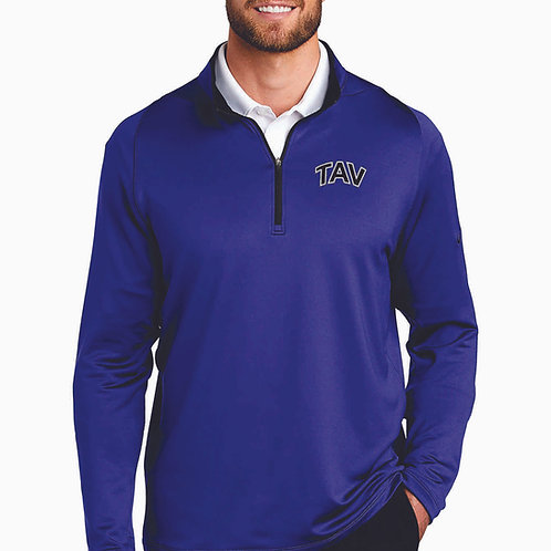 EMBROIDERED - Nike Dri-FIT Stretch 1/2-Zip Cover-Up