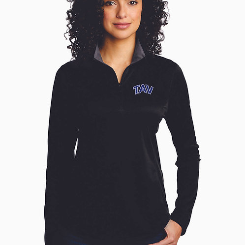 EMBROIDERED - Port Authority ® Ladies Silk Touch ™ Performance 1/4-Zip