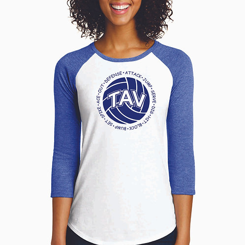 Volleyball Sayings - District ® Women's Fitted 3/4-Sleeve Raglan