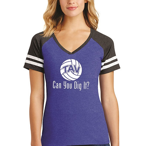 CAN YOU DIG IT - District ® Women's Game V-Neck Tee