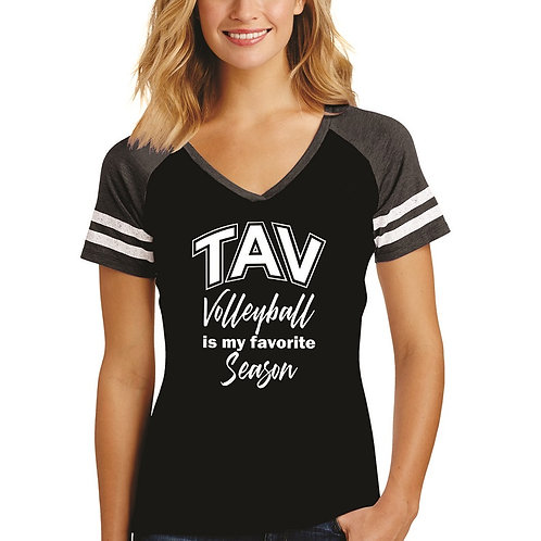 FAVORITE SEASON - District ® Women's Game V-Neck Tee