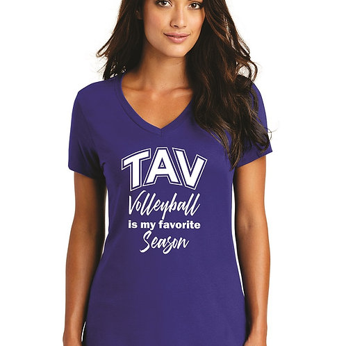 FAVORITE SEASON - District ® Women's Perfect Weight ® V-Neck Tee