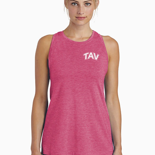 TAV Logo - Sport-Tek ® Ladies PosiCharge ® Tri-Blend Wicking Tank