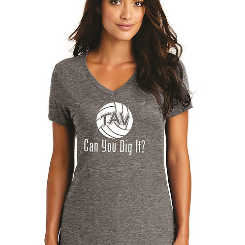 CAN YOU DIG IT - District ® Women's Perfect Weight ® V-Neck Tee